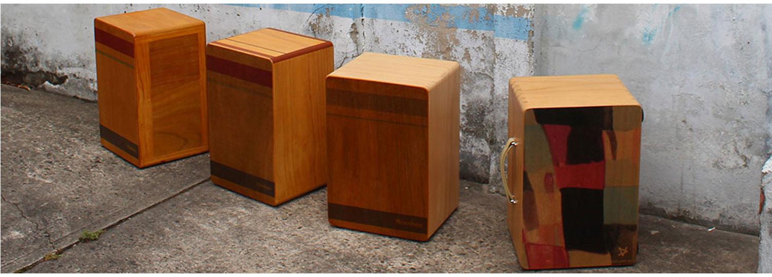 3 custom rockbox cajons